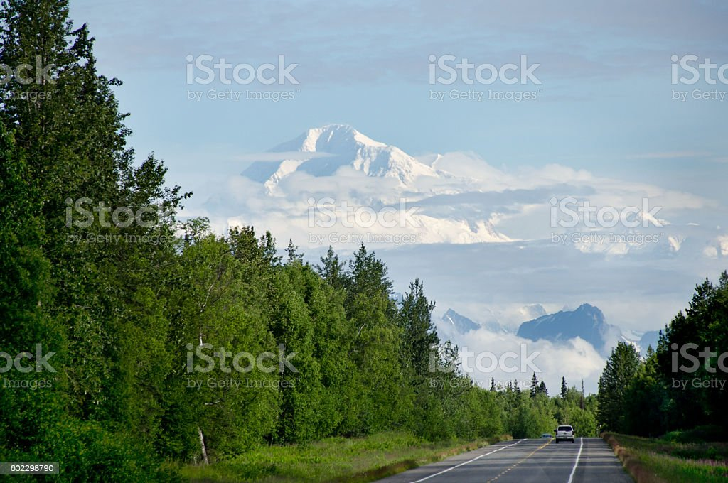 On the Road to Denali stock photo