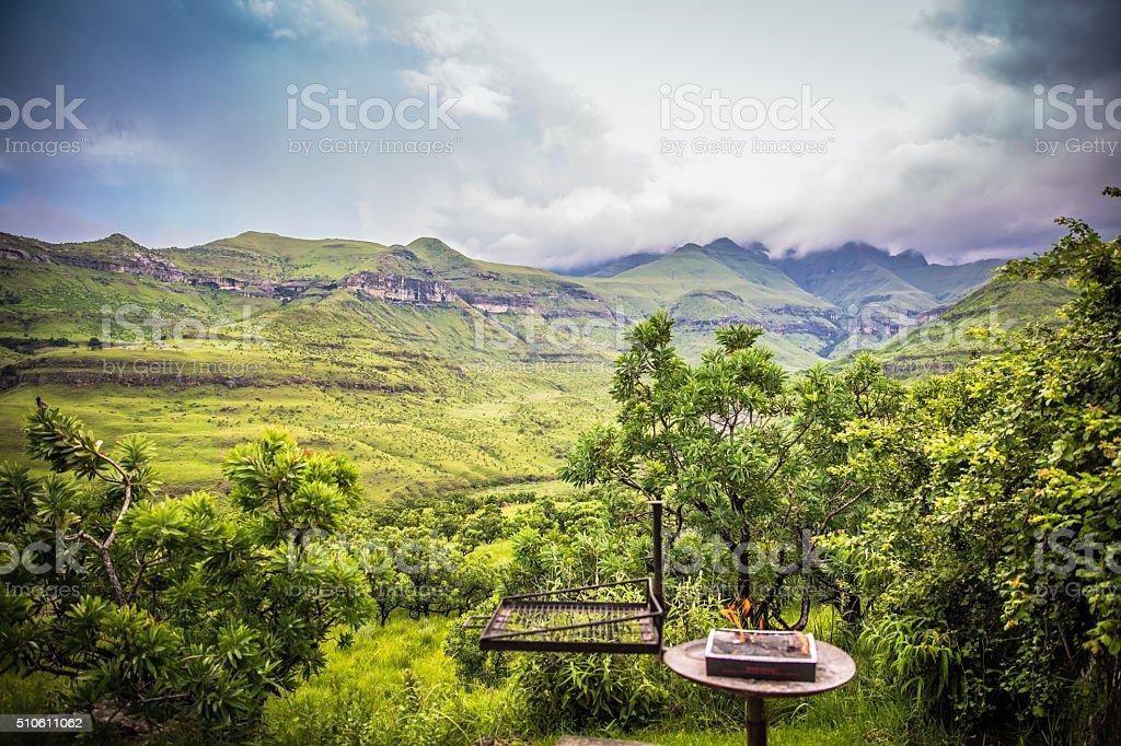 On the Road to Drakensberg stock photo