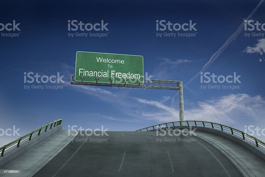 On the road to financial freedom royalty-free stock photo