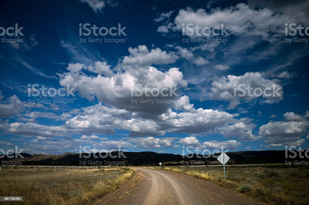 on the road to Flinders Ranges royalty-free stock photo