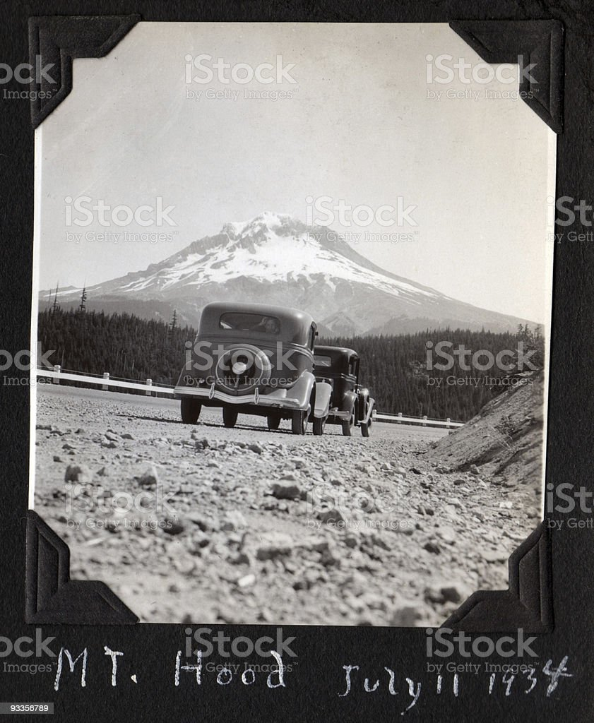 On the road to Mt. Hood, 1934 royalty-free stock photo
