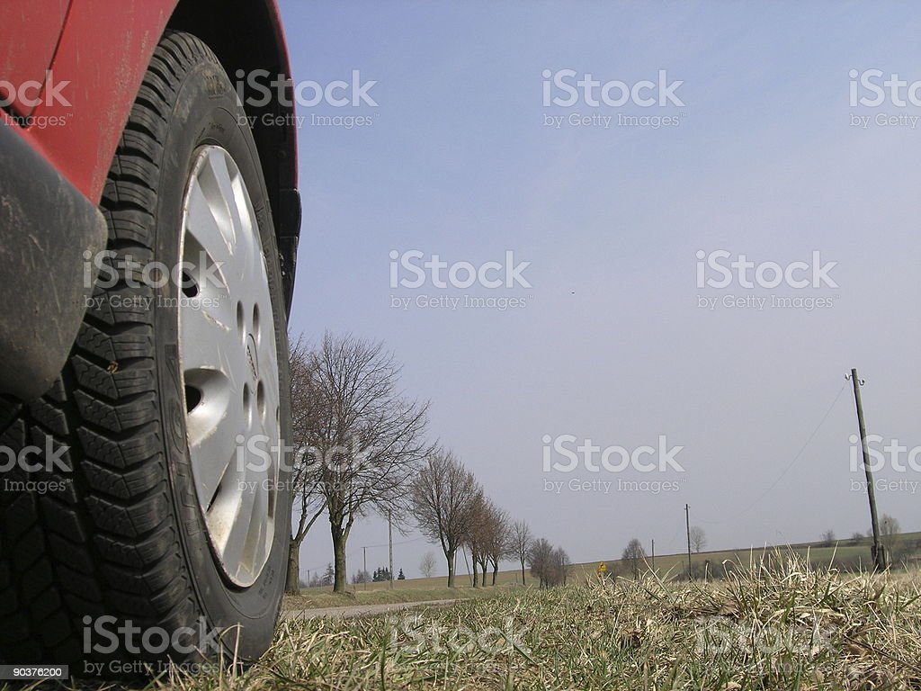 on the route royalty-free stock photo