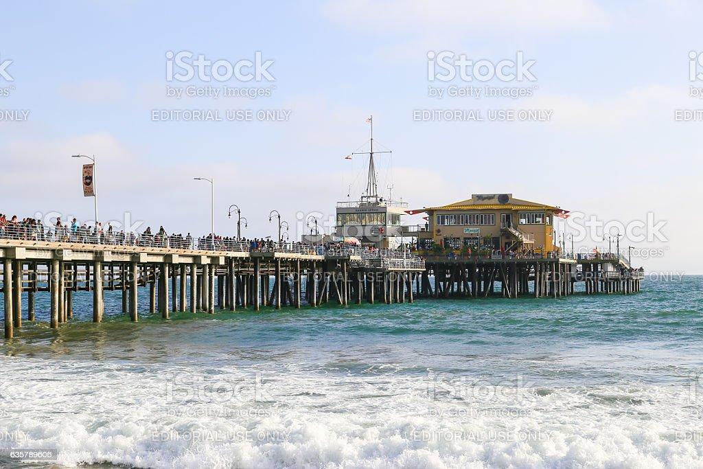 On the Santa Monica Pier stock photo