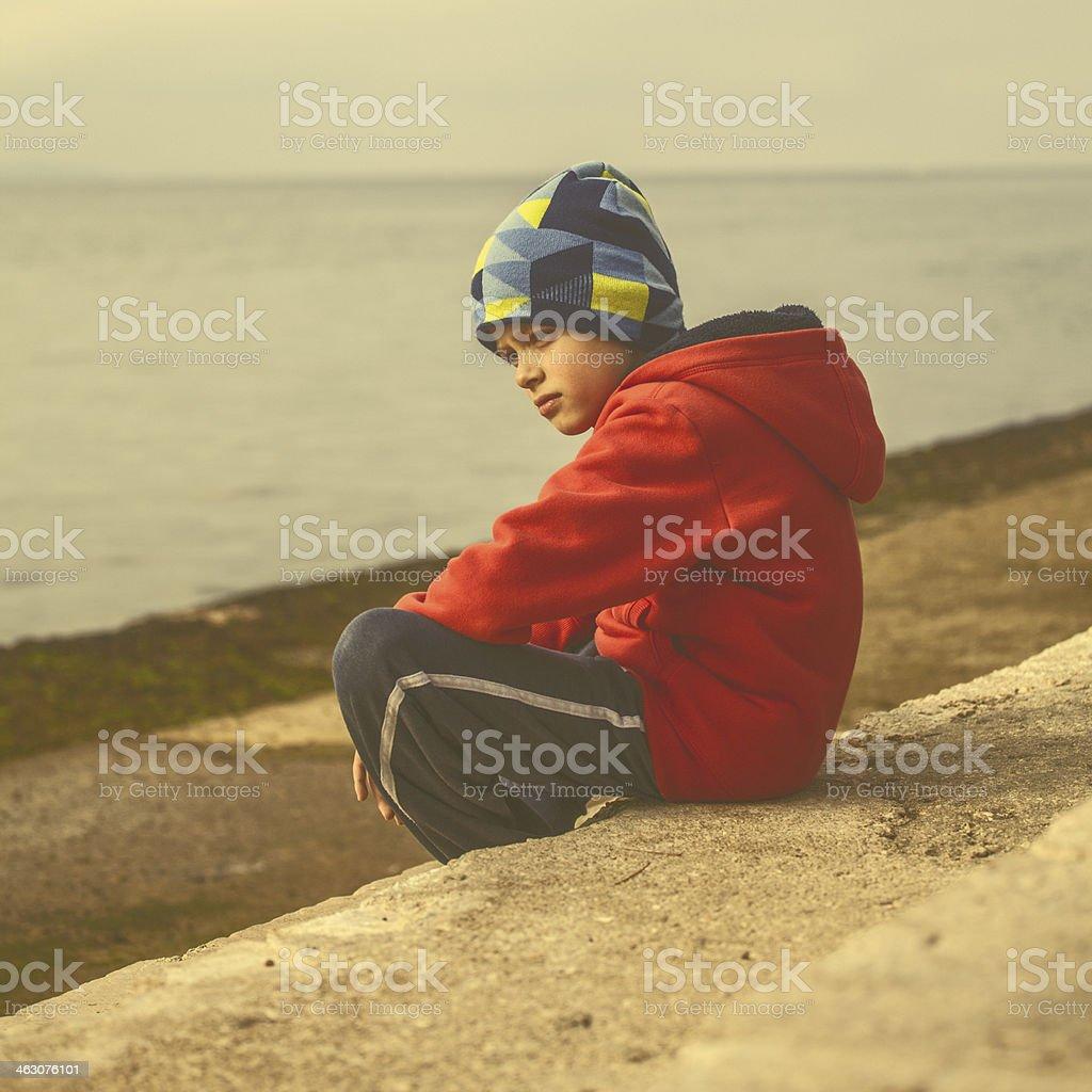 On the seashore royalty-free stock photo