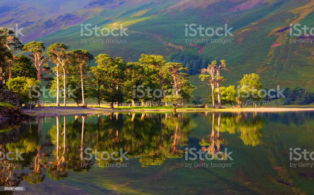 On The Shore Of Buttermere In the English Lake District stock photo