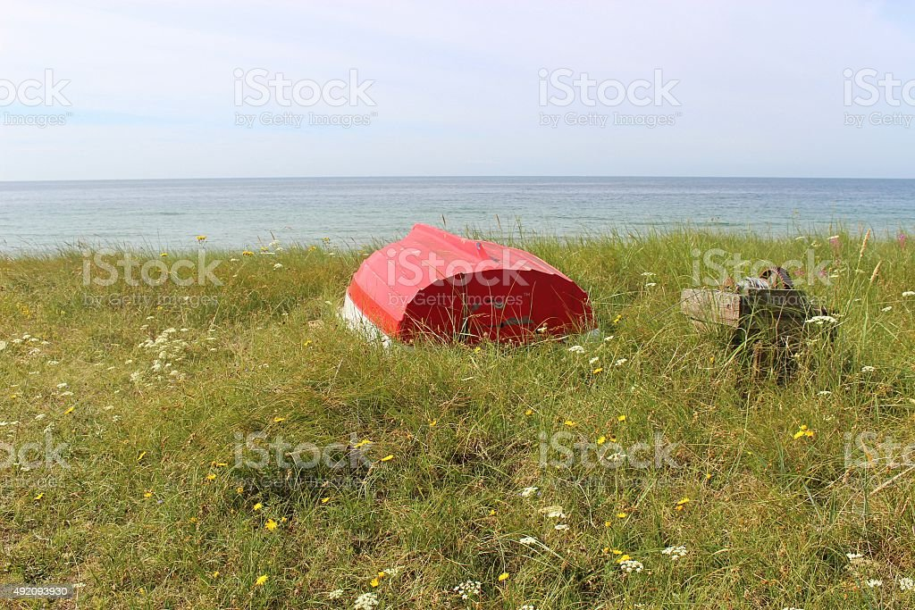 On the shore of Ystad, Southern Sweden, Scandinavia, Europe. stock photo