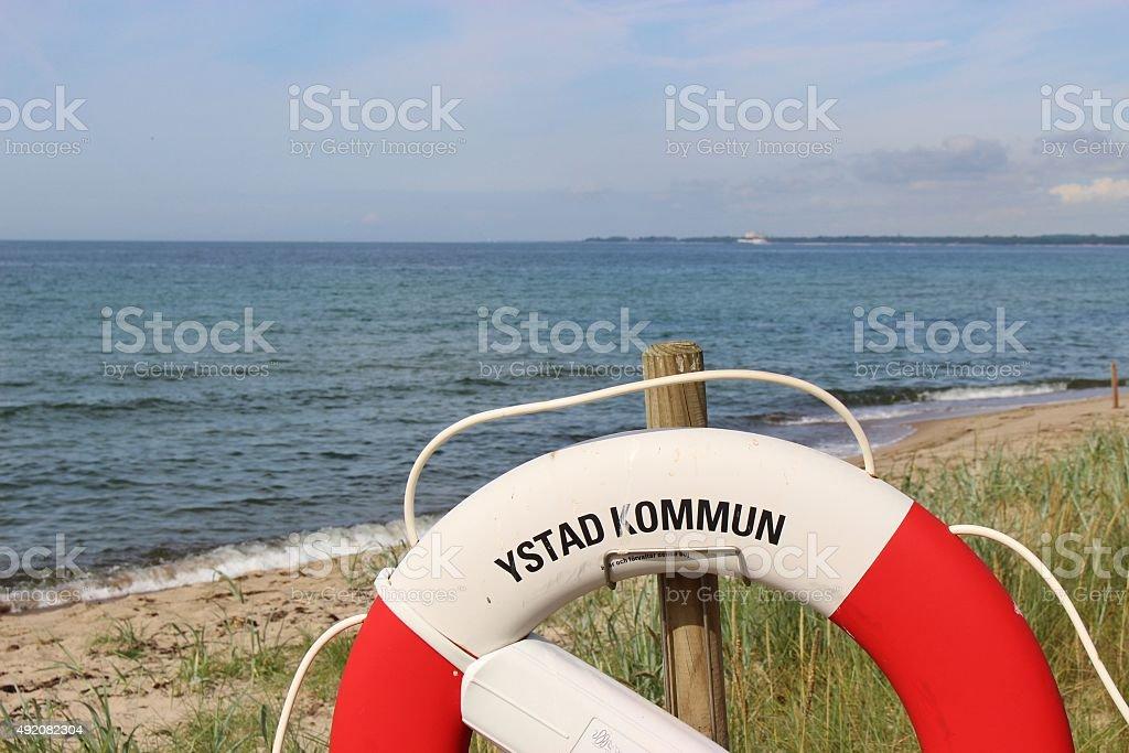 On the shore of Ystad, Sweden, Scandinavia, Europe. stock photo