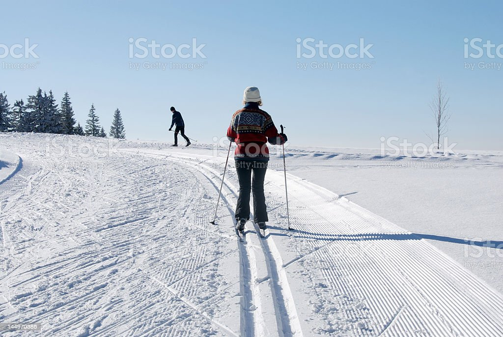 On the slopes royalty-free stock photo