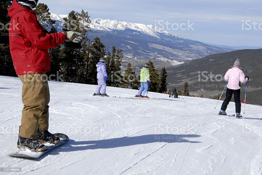 On the slopes stock photo