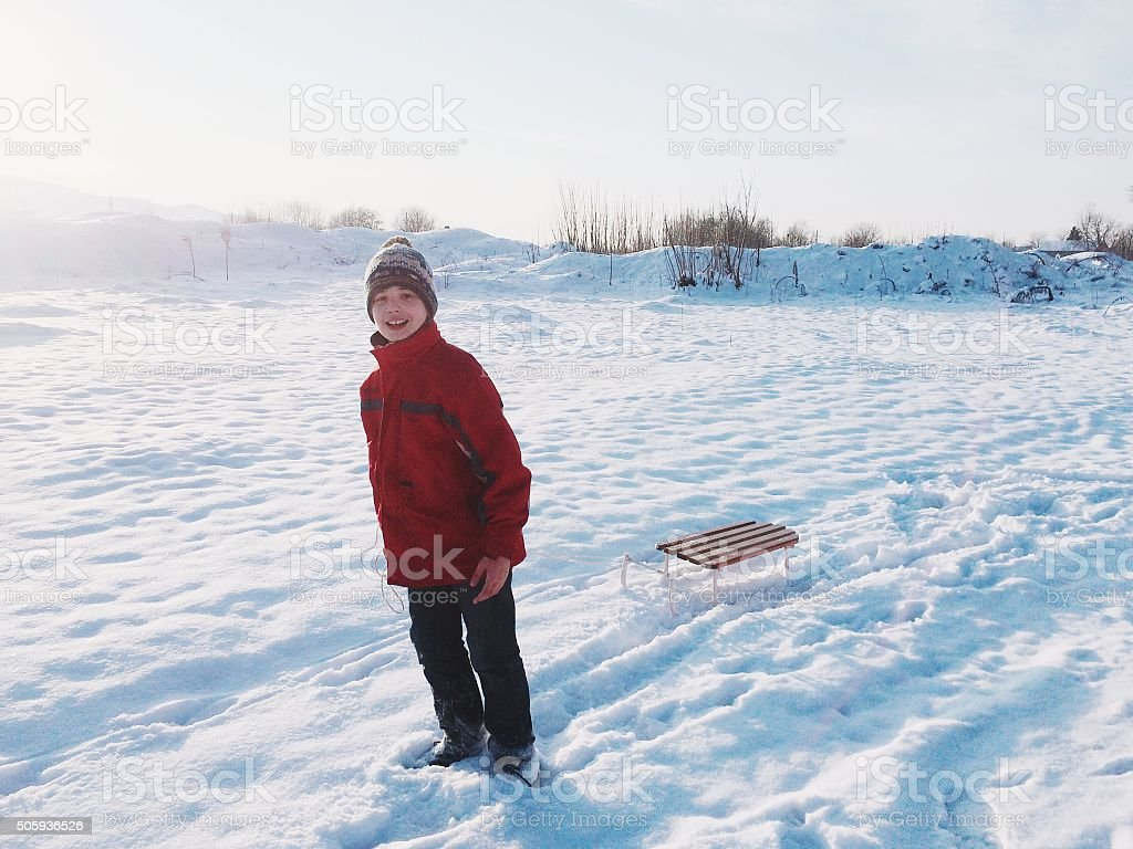 On the snow stock photo