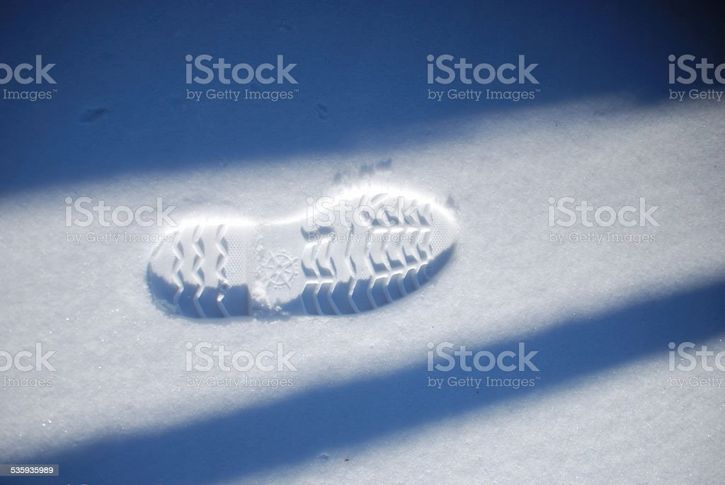 Sulla neve stock photo
