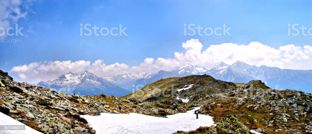 On the Speikboden in South Tyrol, Italy stock photo