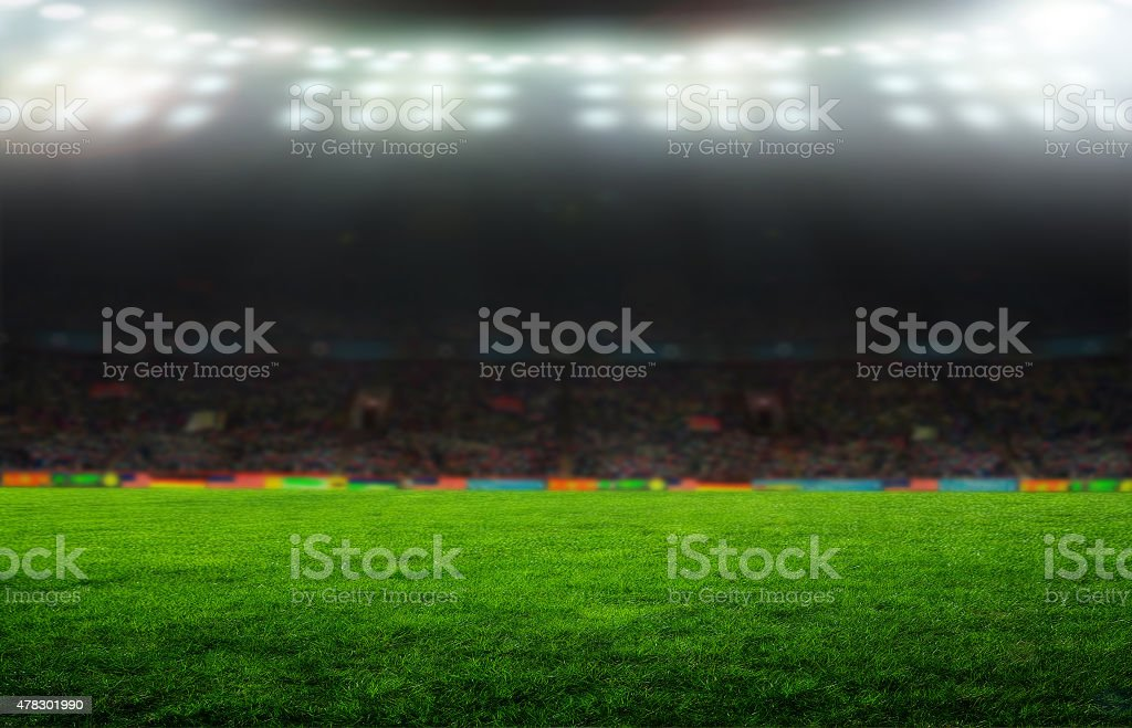 On the stadium. stock photo