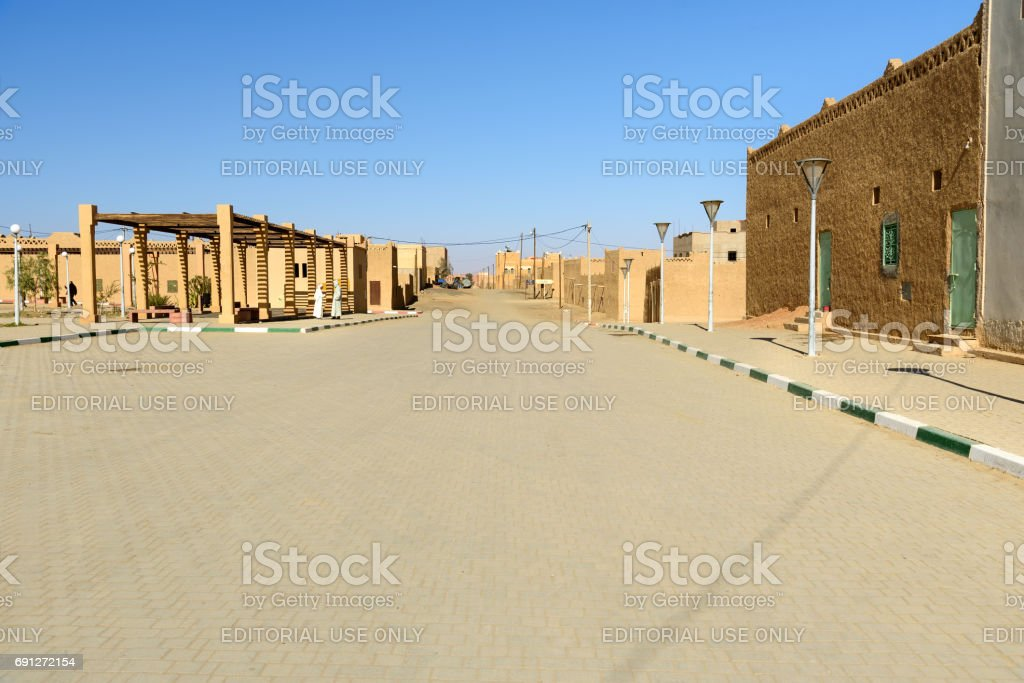 On the street in Merzouga village, Morocco stock photo