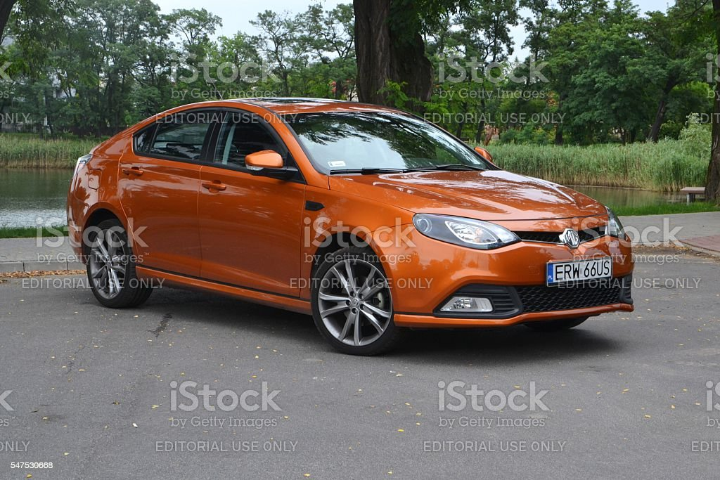 MG 6 GT on the street stock photo