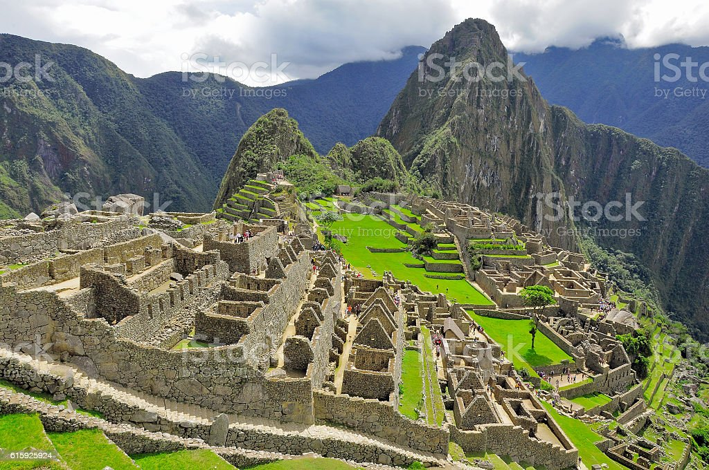 On the streets of Machu Picchu. stock photo