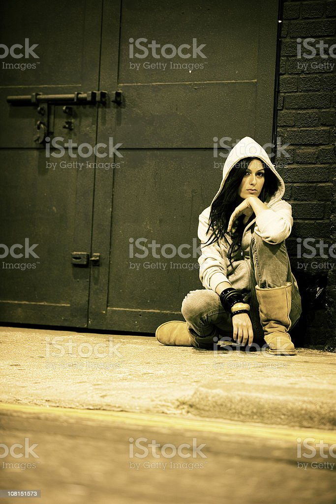 on the streets royalty-free stock photo