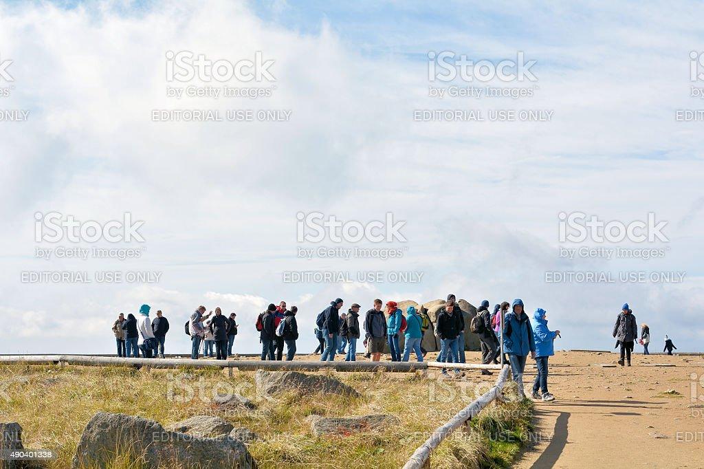 on the summit of the Brocken stock photo