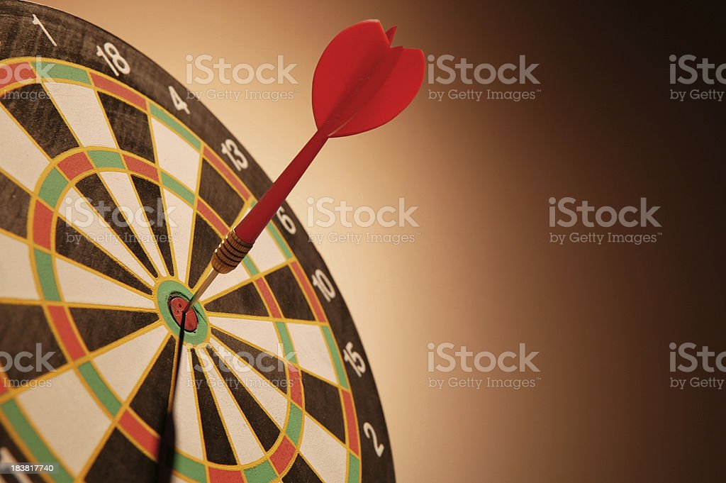 on the target royalty-free stock photo