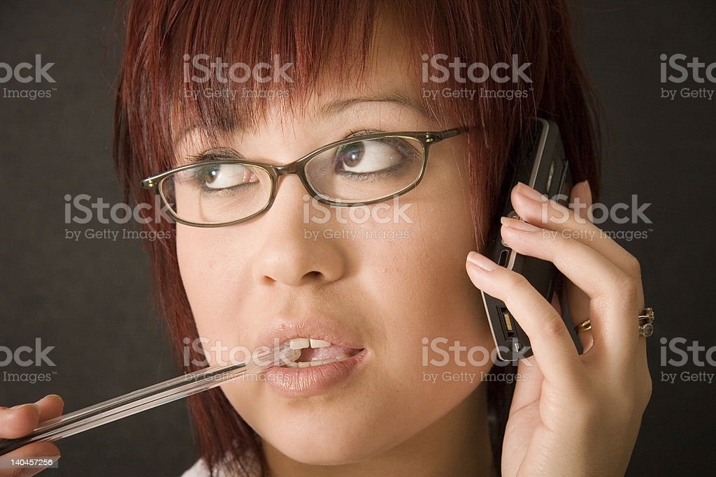 On the Telephone royalty-free stock photo