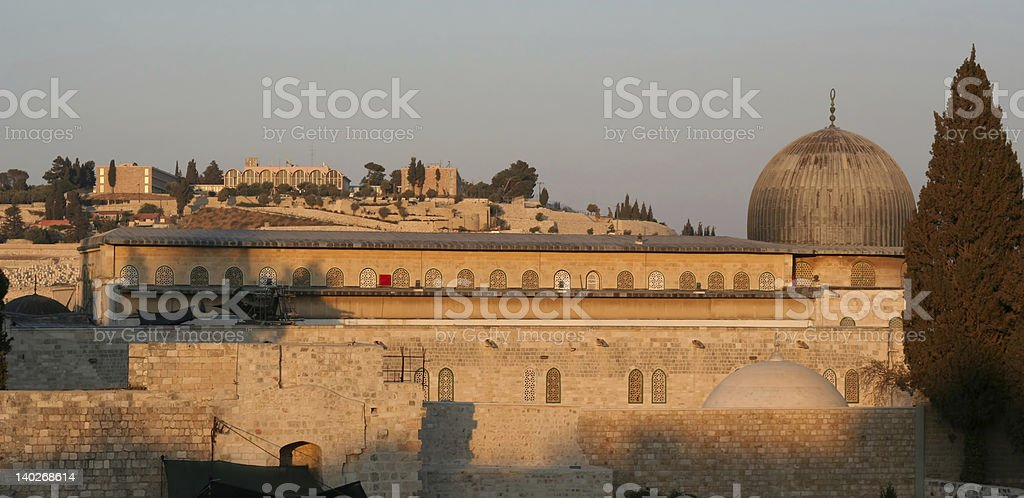 AL-AQSA MOSQUE on the Temple Mount, Jerusalem. royalty-free stock photo