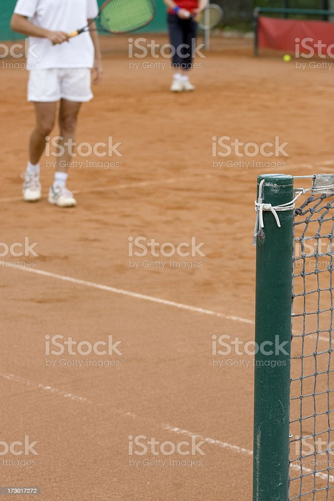 On the tennis court stock photo