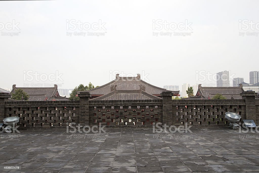 On the territory Giant Wild Goose Pagoda Xian,China stock photo