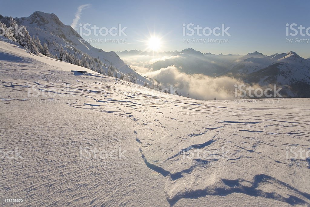 on the top of mt hahnenkamm royalty-free stock photo