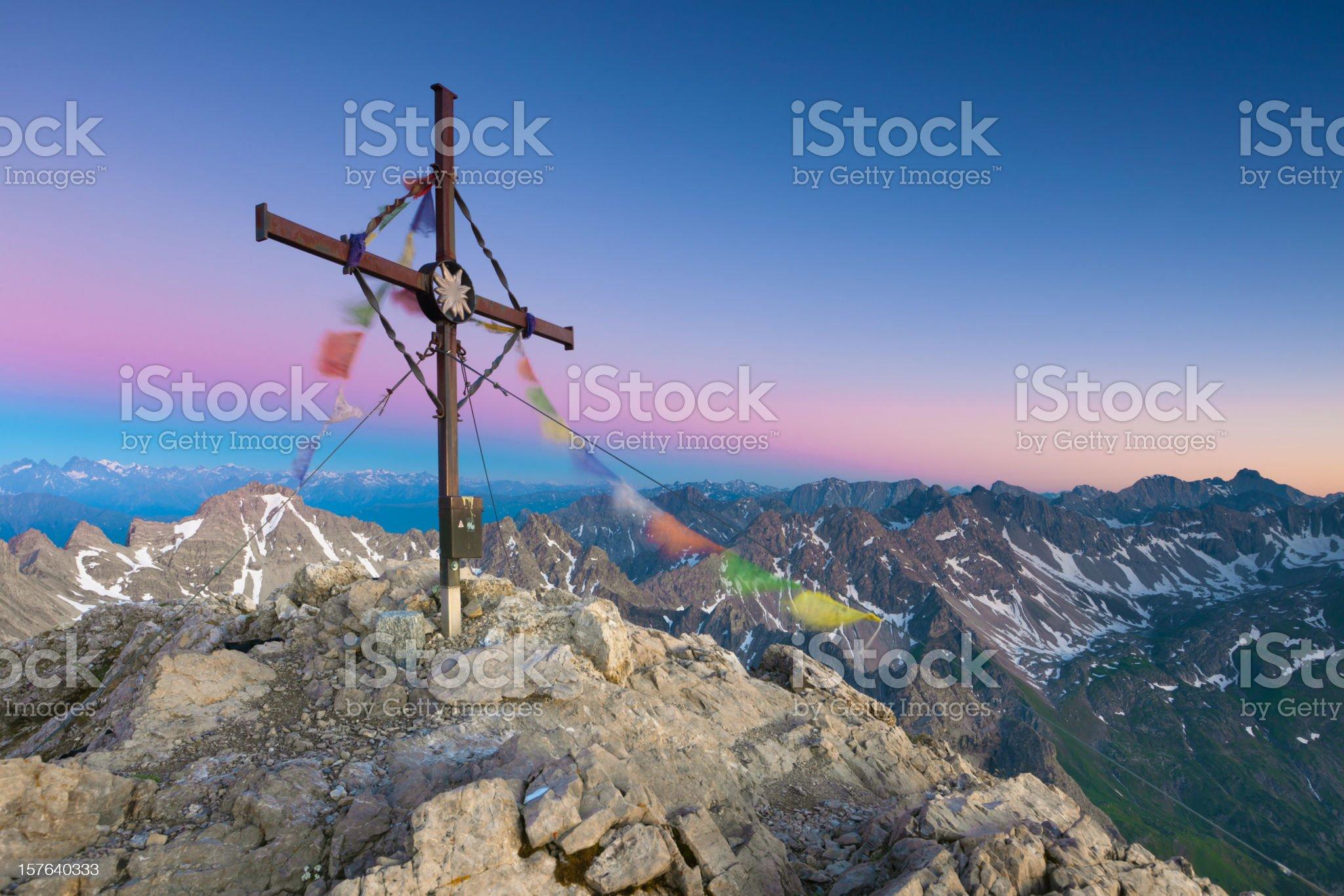 on the top of mt. kogelseespitz - austria- tirol royalty-free stock photo