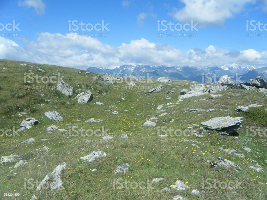 on the top of the world royalty-free stock photo