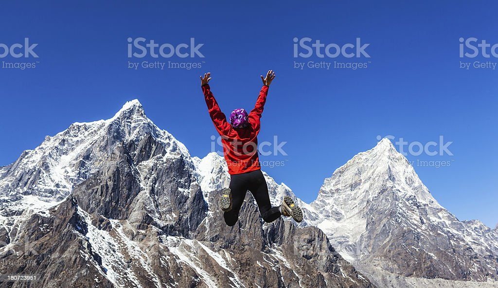 On the top of world! royalty-free stock photo
