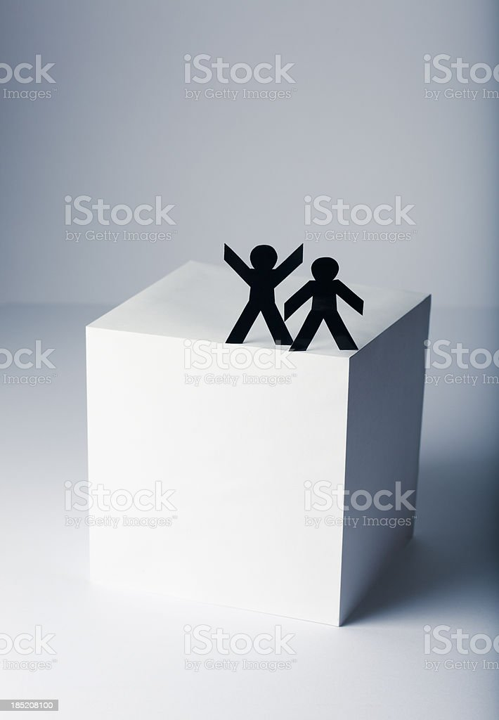 On the top - paper person concept stock photo