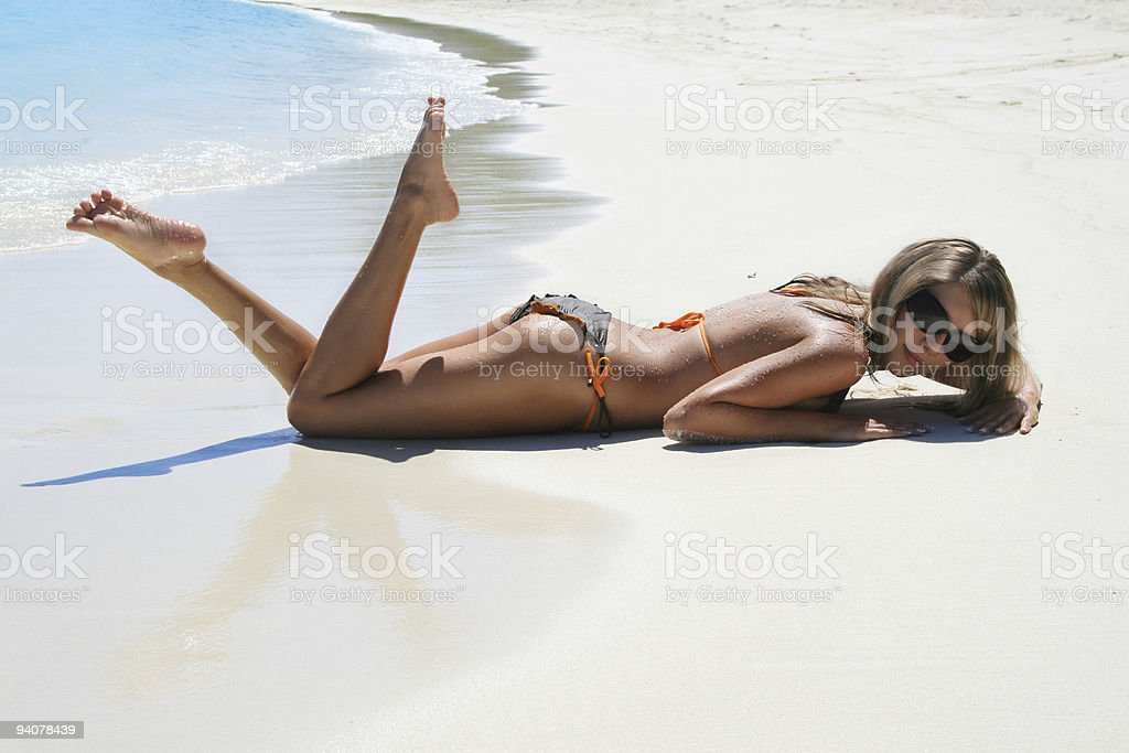 on the tropical beach royalty-free stock photo