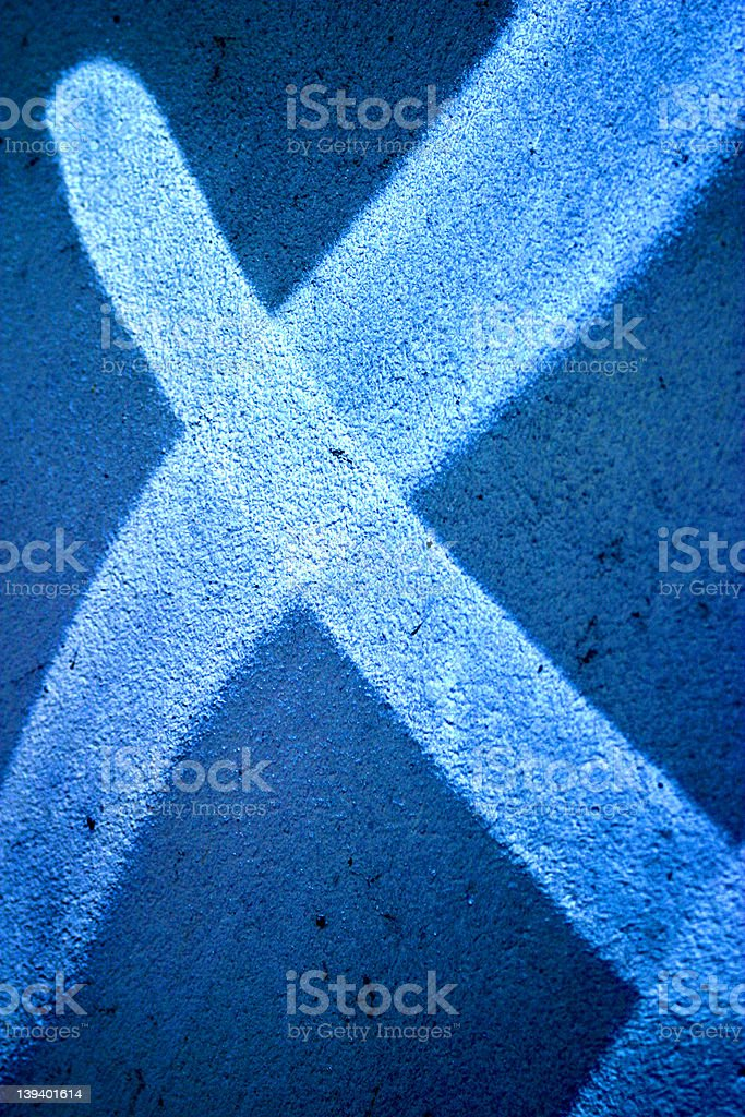X on the wall royalty-free stock photo