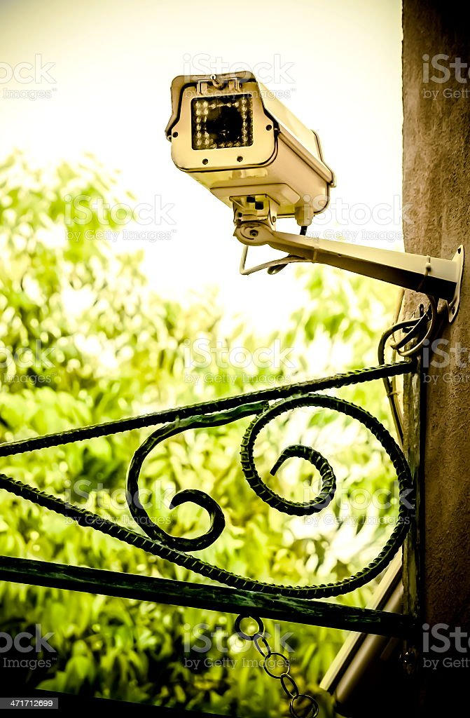 CCTV on the wall royalty-free stock photo