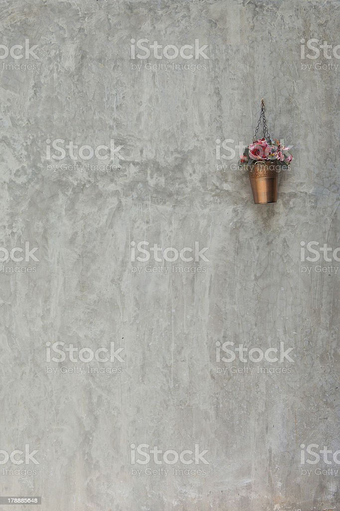 on the wall plaster vases royalty-free stock photo
