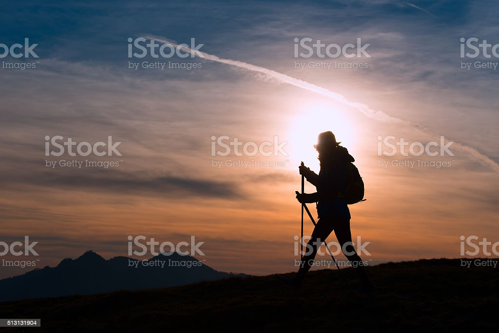 On the way to a pilgrimage stock photo