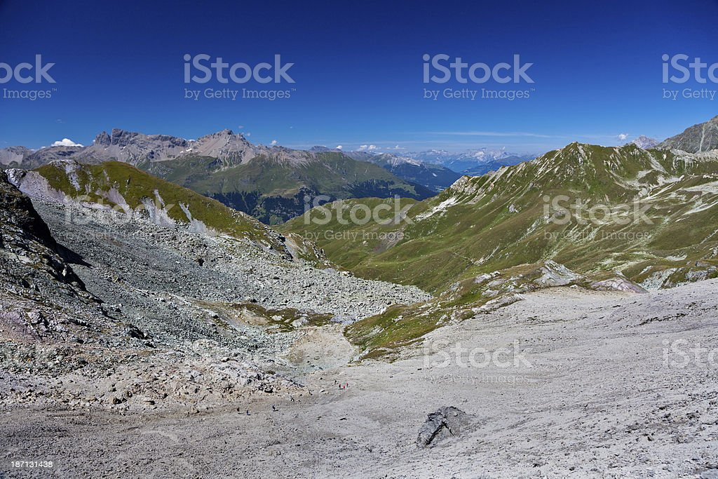 On the Way to Alp Flix royalty-free stock photo