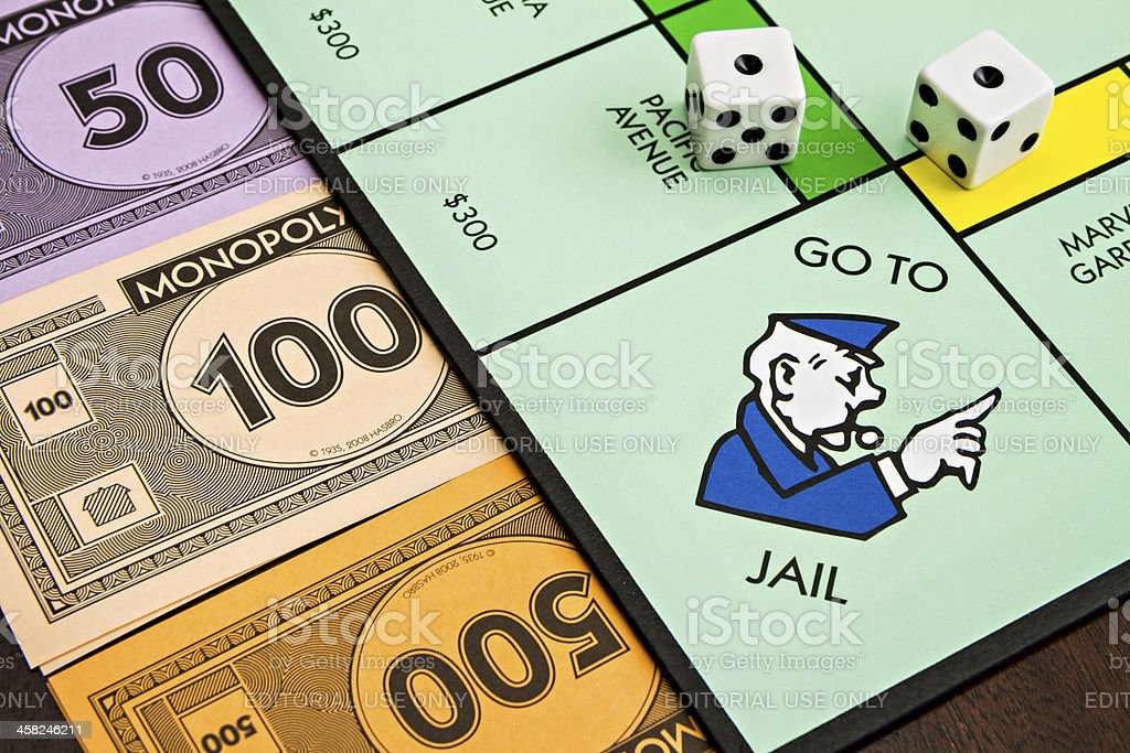 On the way to jail royalty-free stock photo