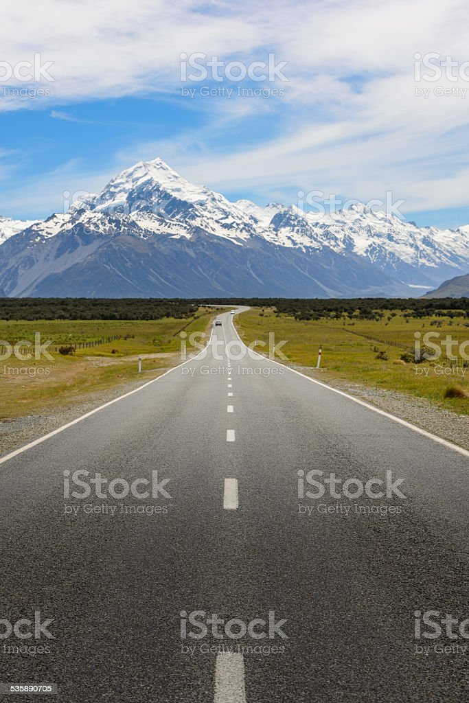On The Way To Mount Cook stock photo