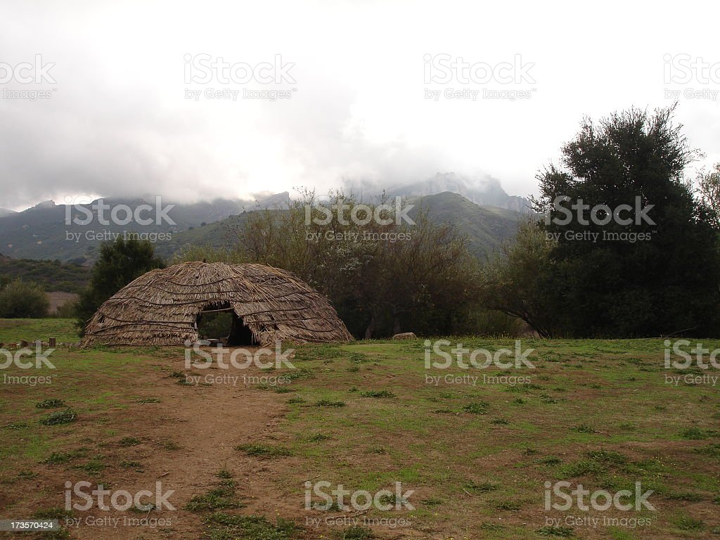 On the Way to Wigwam stock photo