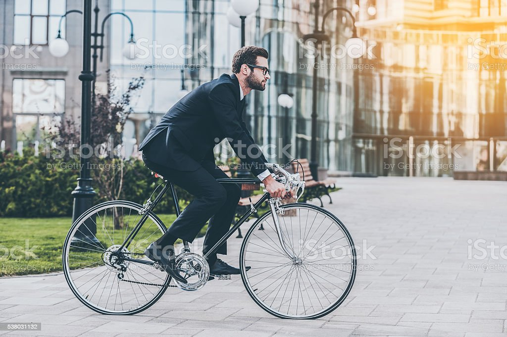 On the way to work. stock photo