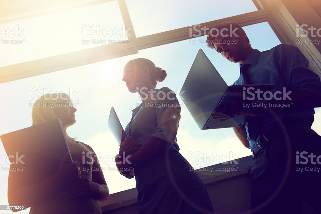 On their way to the top! stock photo