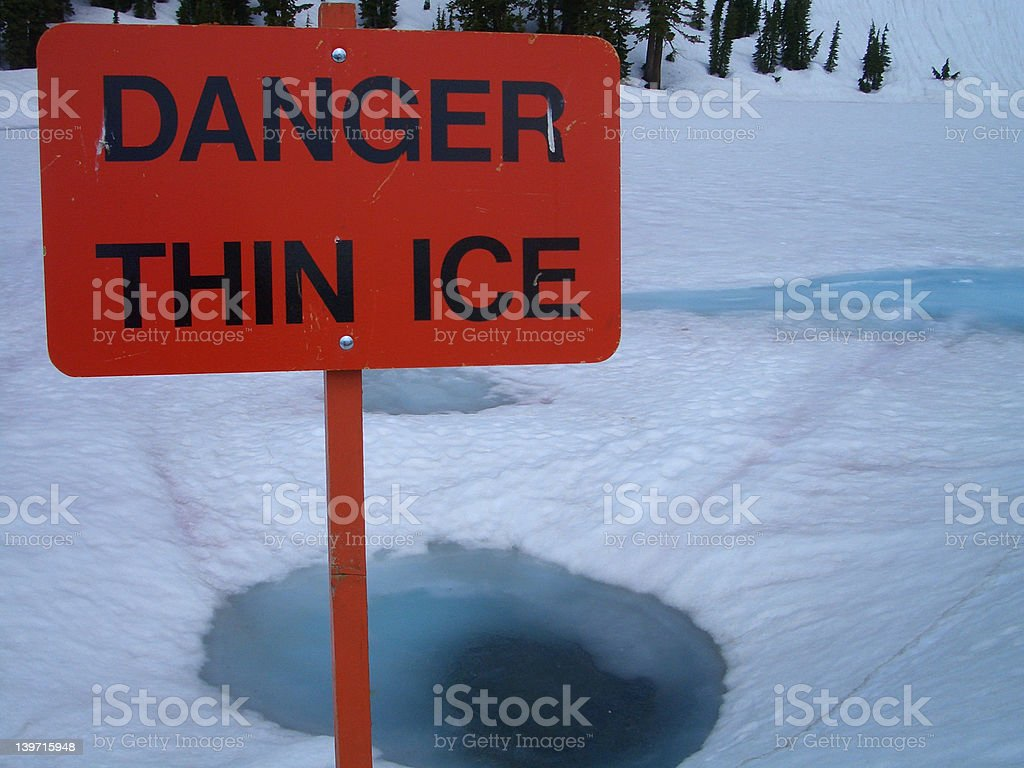 On Thin Ice royalty-free stock photo