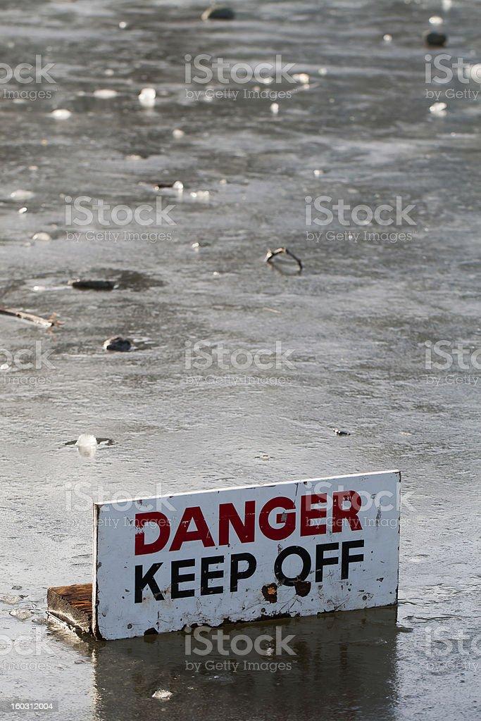 On Thin Ice royalty-free stock photo