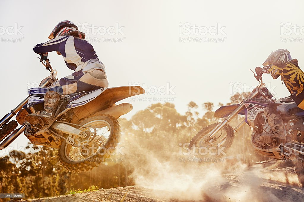 On this very track, a fierce rivalry was born stock photo
