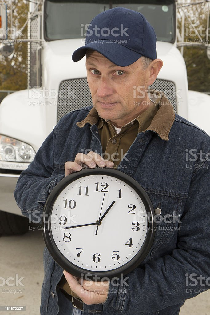 On Time Delivery royalty-free stock photo