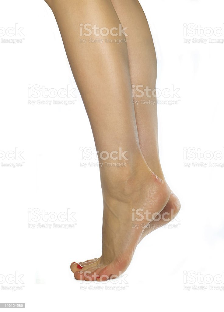 on toes royalty-free stock photo