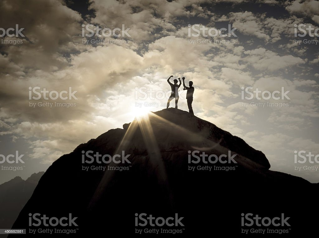 On Top Celebration royalty-free stock photo