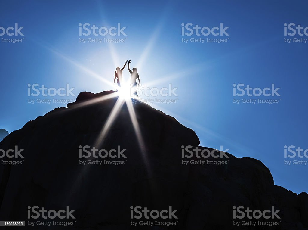 On Top High Five stock photo